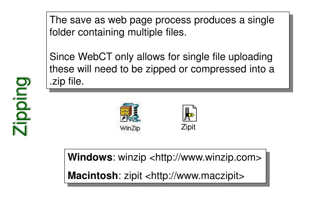 The save as web page process produces a single folder containing multiple files.