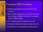common cre problems19