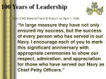 100 years of leadership4