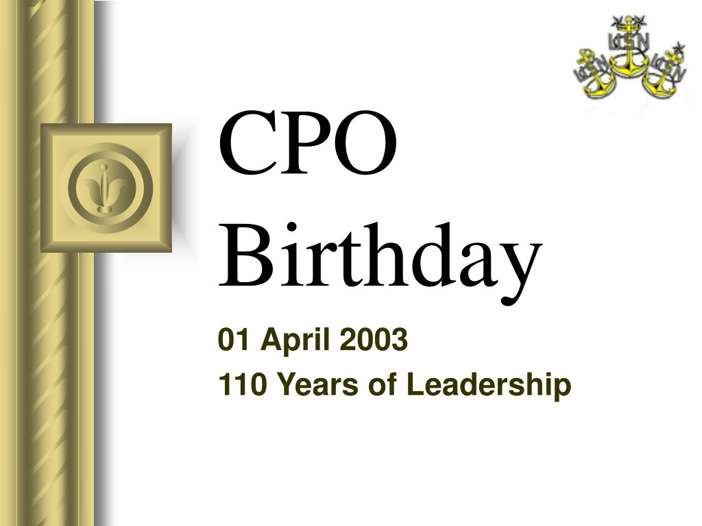 cpo birthday l.