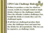 cpo coin challenge rules30