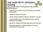 the chief petty officer s pledge