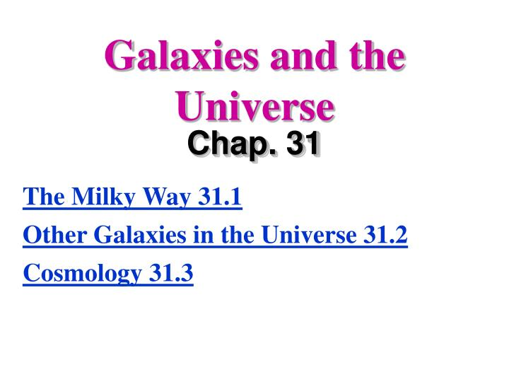 galaxies and the universe n.
