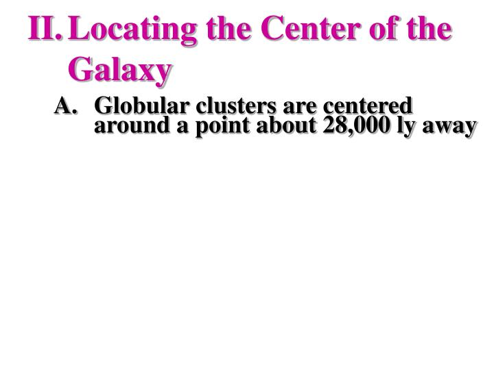 Locating the Center of the Galaxy