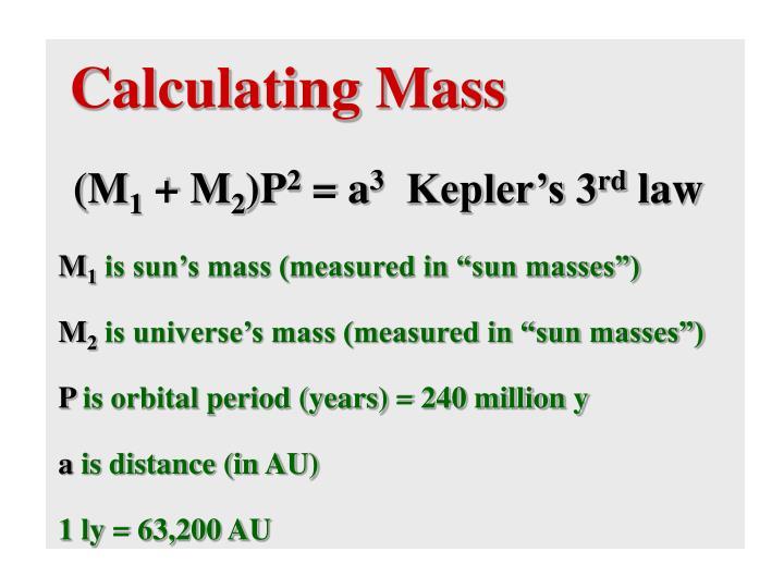 Calculating Mass