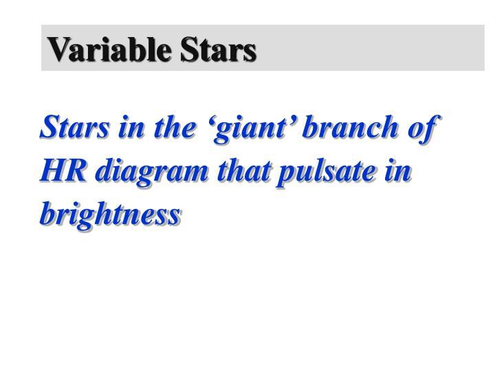 Variable Stars