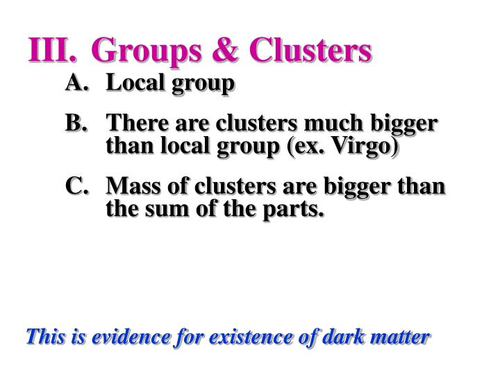 Groups & Clusters