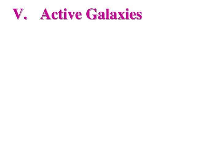 Active Galaxies