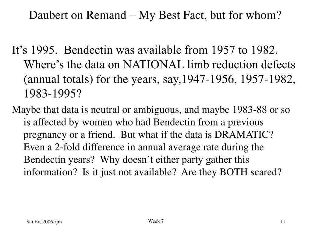 Daubert on Remand – My Best Fact, but for whom?