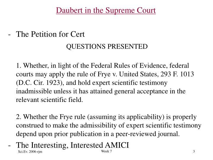 Daubert in the Supreme Court