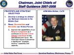chairman joint chiefs of staff guidance 2007 2008