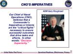 cno s imperatives
