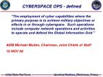 cyberspace ops defined