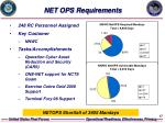 net ops requirements