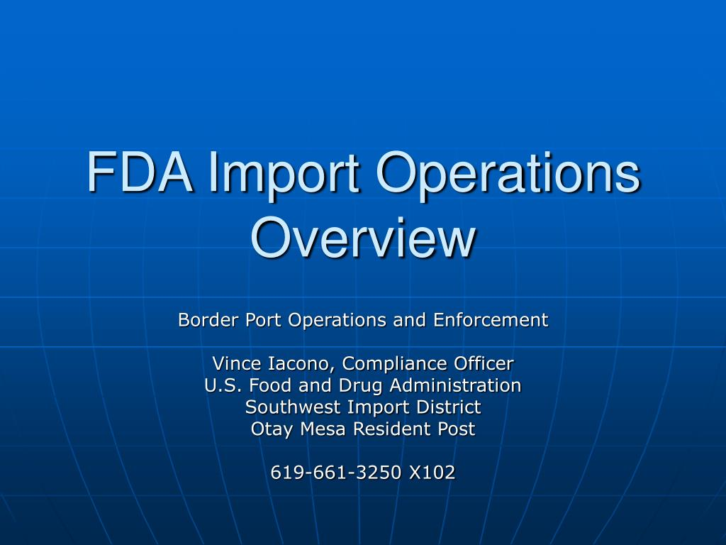 fda import operations overview l.
