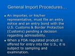 general import procedures