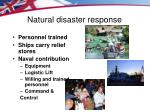 natural disaster response