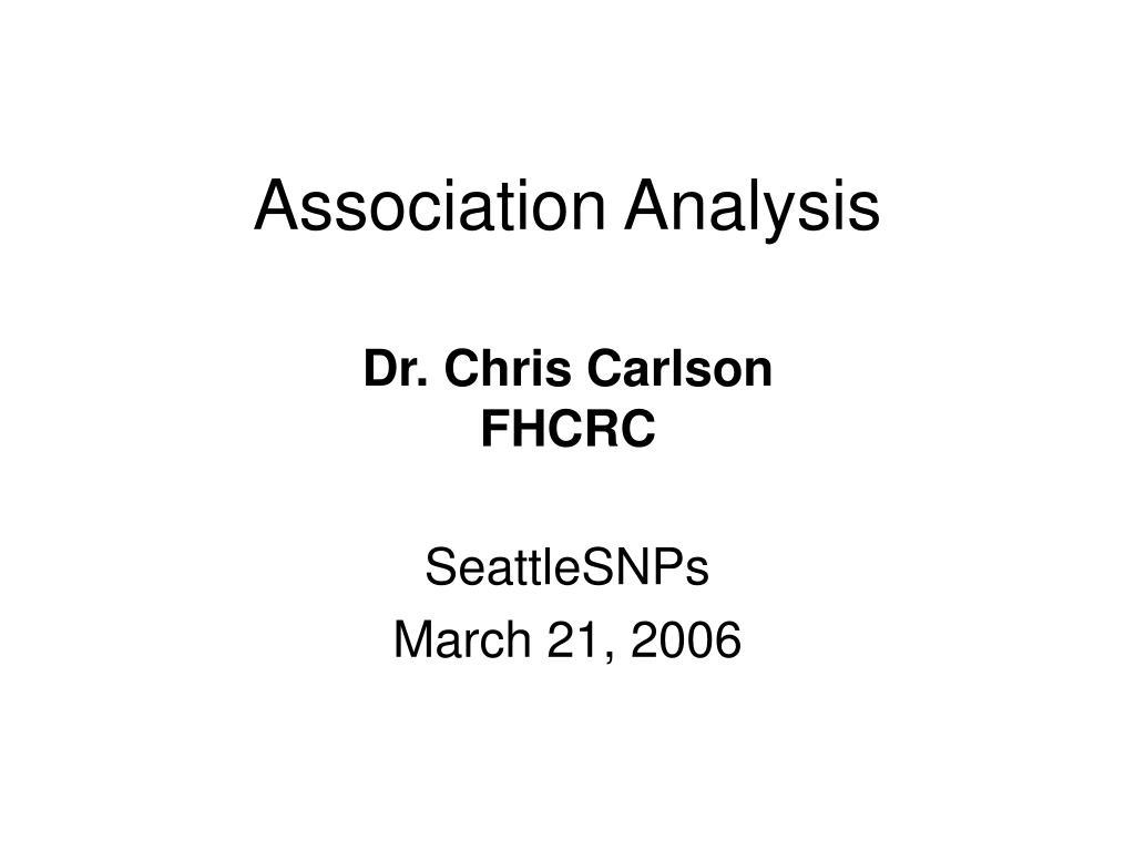 association analysis l.