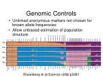 genomic controls