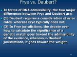 frye vs daubert