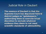 judicial role in daubert