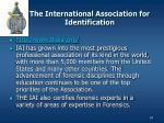 the international association for identification