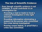 the use of scientific evidence