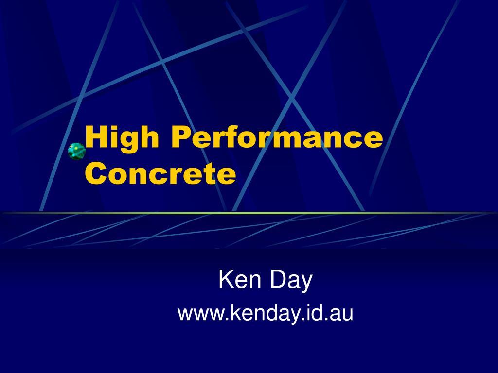high performance concrete l.