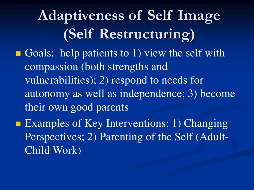 Adaptiveness of Self Image