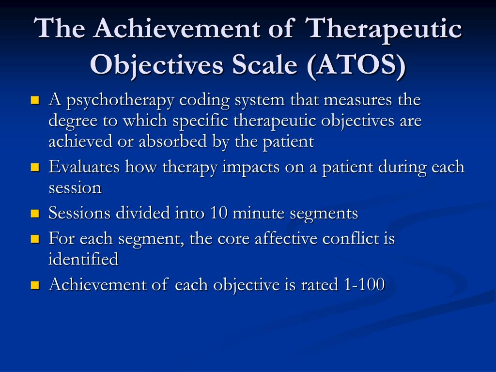 The Achievement of Therapeutic Objectives Scale (ATOS)
