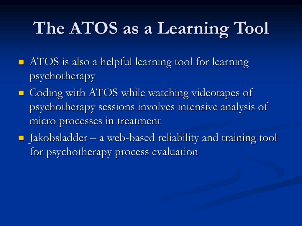 The ATOS as a Learning Tool