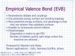 empirical valence bond evb