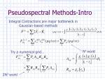 pseudospectral methods intro