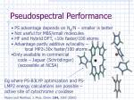 pseudospectral performance