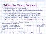 taking the canon seriously