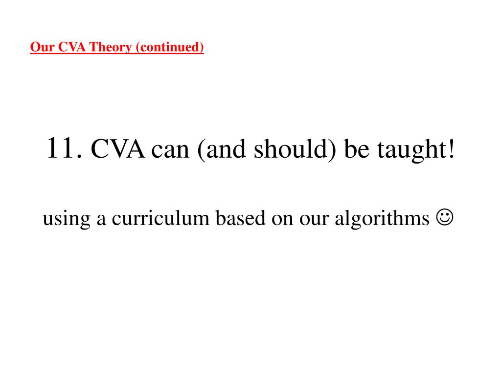 Our CVA Theory (continued)