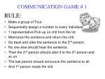 communication game 1