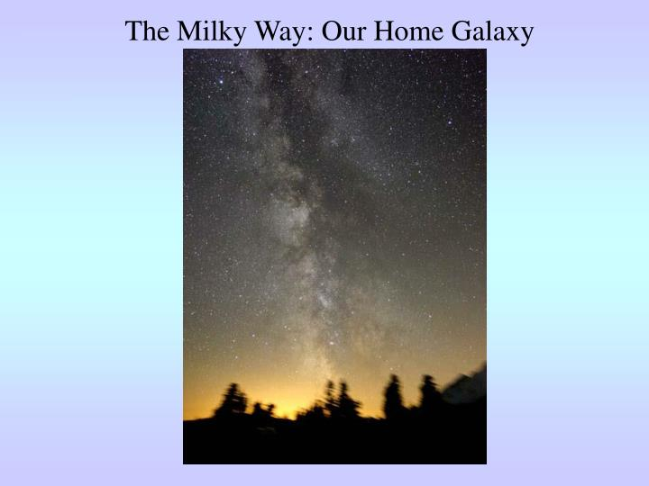 The Milky Way: Our Home Galaxy