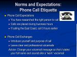 norms and expectations phone call etiquette