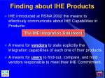 finding about ihe products