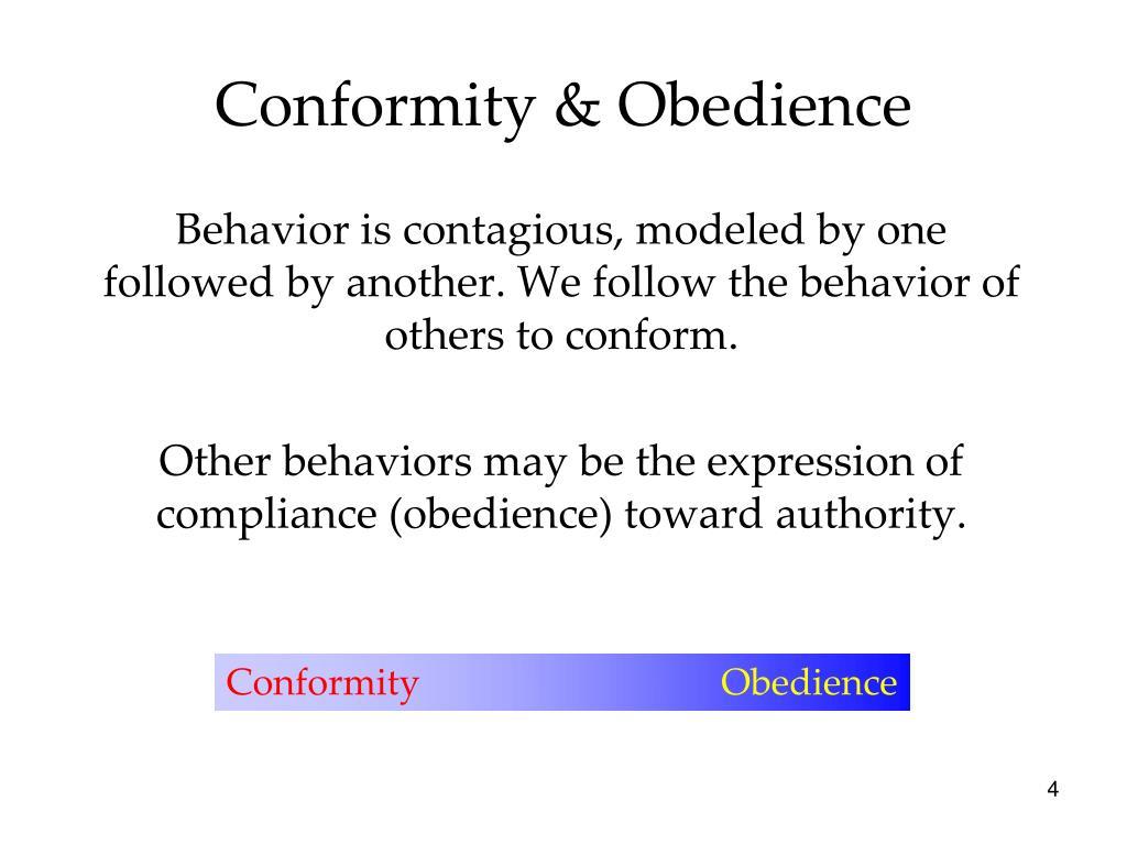 social conformity obedience