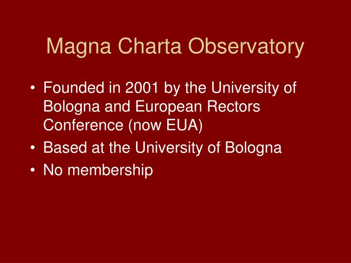 Magna Charta Observatory
