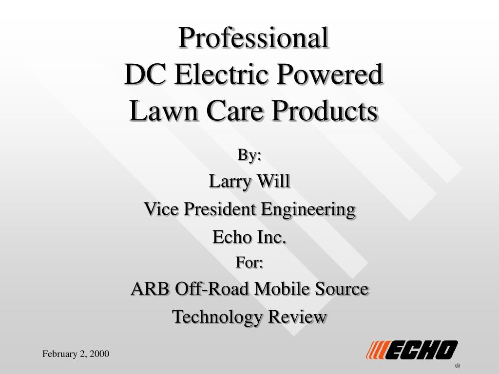 professional dc electric powered lawn care products l.