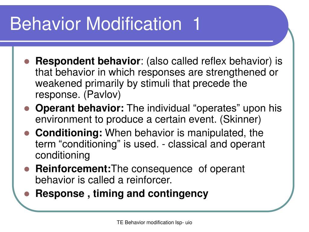 behavior modification 1 l.