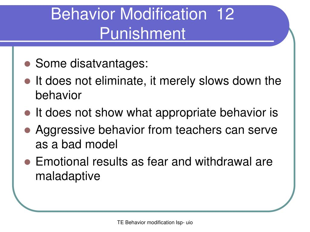 what is behaviour modification
