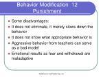 behavior modification 12 punishment