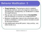 behavior modification 5
