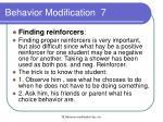 behavior modification 7
