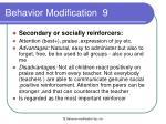 behavior modification 9