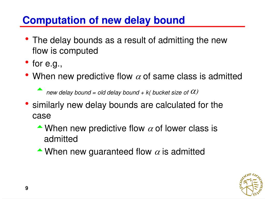 Computation of new delay bound